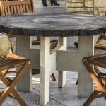 Log Round Table Top Mold – 4' with Table Leg Mold