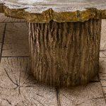 """Heavy Bark Log Liner for 24"""" Concrete Form Tube"""